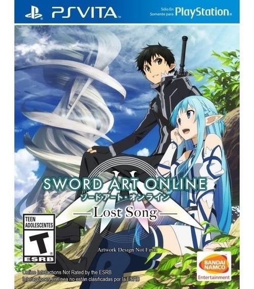 Sword Art Online Lost Song - Ps Vita - Novo - Mídia Fisica
