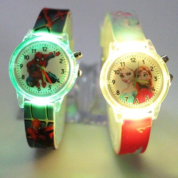 Relógio Homem Aranha Luzes Infantil - Maravilhoso