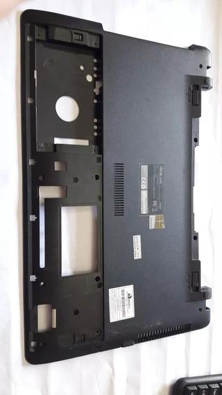 Carcaça Inferior E Do Lcd E Dobradiças Do Notebook Asus X55c