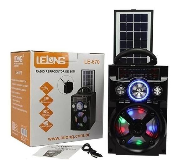 Rádio Caixa De Som Bluetooth Recarregável Solar Luminária