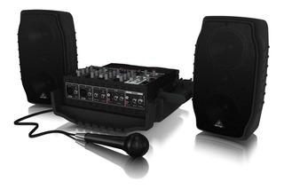 Sistema De Sonido Portatil Behringer Ppa200 200w 5 Canales P