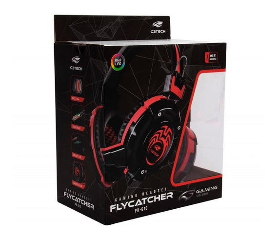 Fone Headset Gamer Flycatcher Ph-g10bk + Adp. Ps4 E Xbox One