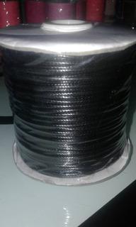 Hilo Piel De Serpiente Negro 1mm 92 Metros Precio X 2 Rollos