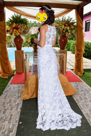 Vestido De Noiva Modelo Sereia Em Renda