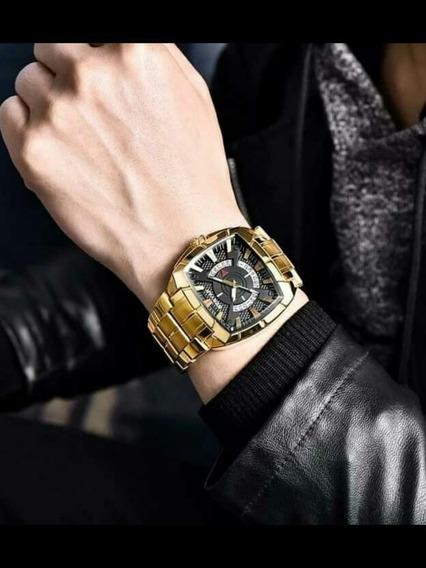 Maravilhoso Relógio Benyar Dourado,bonito , Barato+caixa