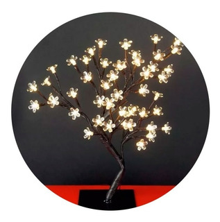 Bonsai Luminoso Flor Del Cerezo Luz Led Calida Deco Eventos