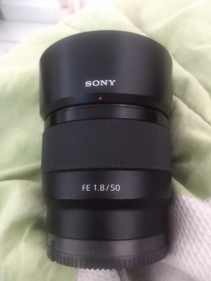 Lente Sony Fe 50mm 1.8 + Parassol Acl-sh146