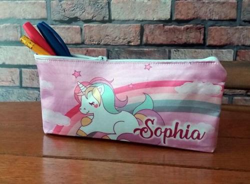 30  Bolsinha Necessaire Personalizada Lembrancinha Unicornio