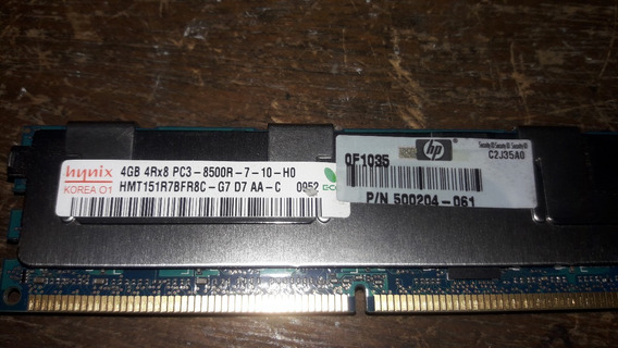 Memória Hp Hynix 4gb Ddr3 Hmt151r7bfr8c-g7 500204-061 (1801)