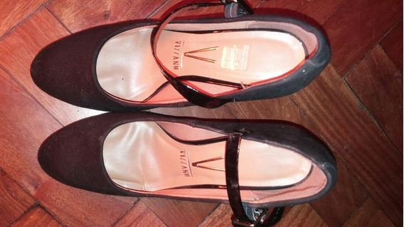 Zapatos Pulseras Negros Gamuzados 38 Viziano