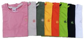 Camiseta Básica Infantil Lisa - Várias Cores
