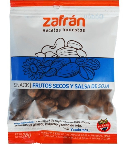 Snack Zafran Almendras, Mani Y Girasol X 60u - Dismaser