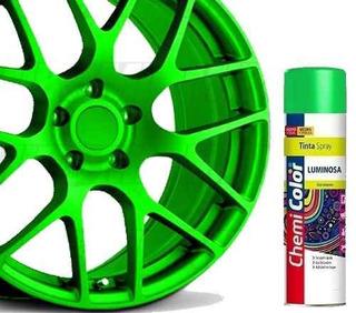 Tinta Spray Luminosa Verde Fluorescente 400ml Chemicolor