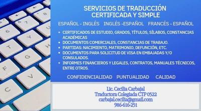 Servicios De Traducción Certificada