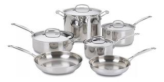 Set De Ollas Cuisinart® Modelo 77-10 (10psc) Nueva En Caja