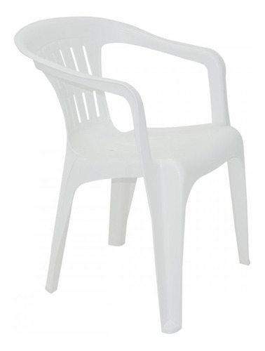 Imagem 1 de 3 de Poltrona Atalaia Tramontina Plastica Branca