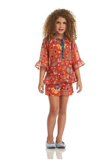 Bata Acostamento Infantil Fashion Floral Estampado