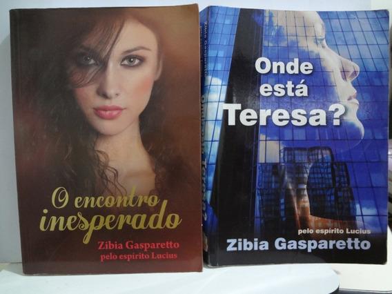 2 Livros Zibia Gasparetto Encontro Inesperado E Outro