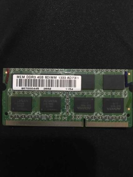 Memoria 4gb Ddr3 1333 Ghz Notebook Semi Nova