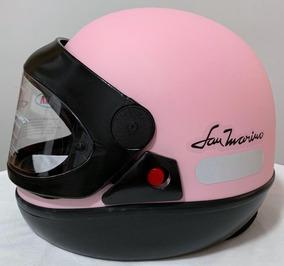 Capacete San Marino Fem. Rosa Claro -ed.limitada- Moto Top!