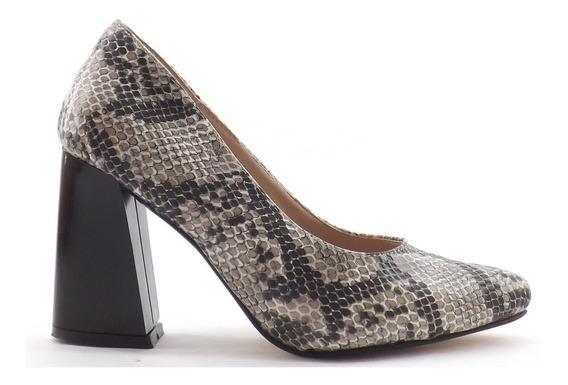 Zapato Dama Stiletto Mujer Taco Ancho Altos Colores 1630