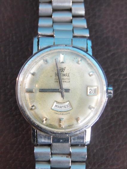 Relógio De Pulso Precimax Automatico Calendario Funcionando