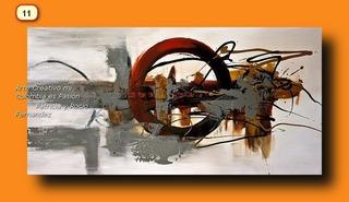 Abstractos En Promoción 100% Cuadros Al Oleo Decorativos