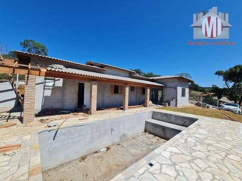 Imagem 1 de 11 de Ótima Chácara Em Fase De Construção, Com 3 Dormitórios, Piscina, Internet A Fibra, Varanda, À Venda, 900 M² Por R$ 430.000 - Rural - Pinhalzinho/sp - Ch0991