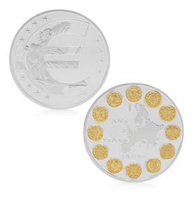 Moeda Comemorativa 10 Anos Do Euro Com Os 12 Países Membros