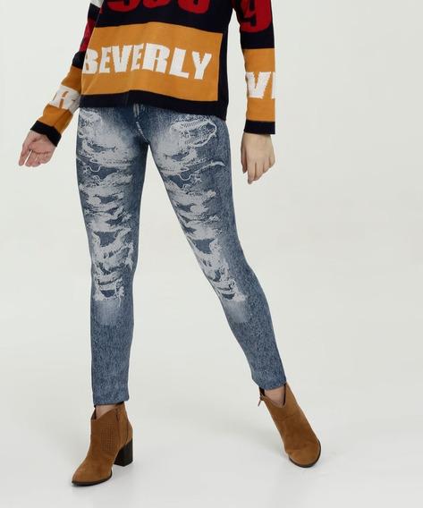 Calça Feminina Jeans Legging Sawary