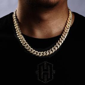 13mm 2019 Novo 18k Amarelo Ouro Acabamento Diamante Cubano L