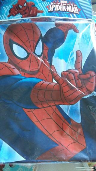 Mantel Spiderman Hombre Araña Rectangular De Cotillón