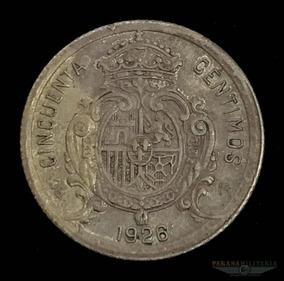 Moeda Prata 835 2.5gr 18mm Espanha Rei Alfonso 1926