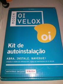Modem Oi Velox Kit Auto Instalação Completo Modem Dsl-2500e