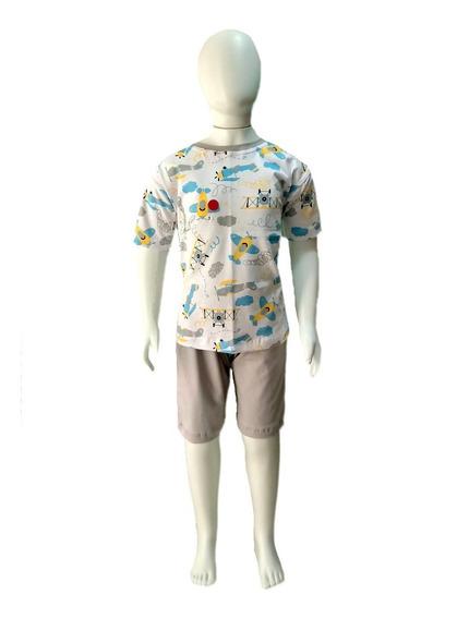 Pijama Infantil Tamanho 8/10/12 Estampa Verão - Menino