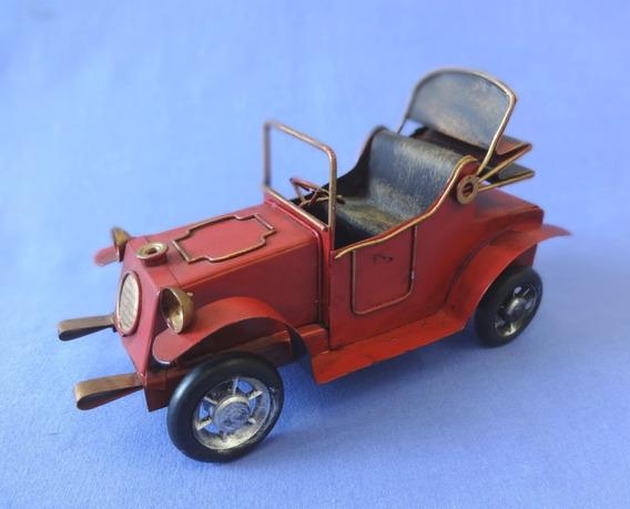 Carro Antigo Em Lata - Rodas Livres