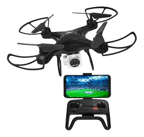 Drone Con Camara Transmite En Vivo Celular Fpv Wifi Luz Led