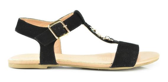 Sandalia De Piso Para Mujer Lob Footwear 644-9956 Negro Nuevo Oi19