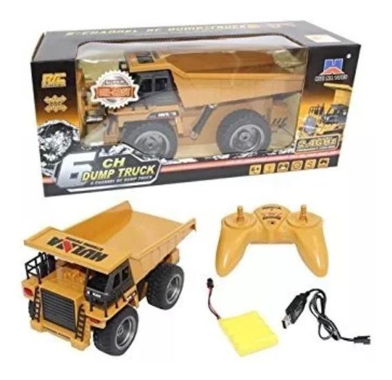 Caminhão Caçamba Brinquedo Basculante 6ch 2.4ghz Huina