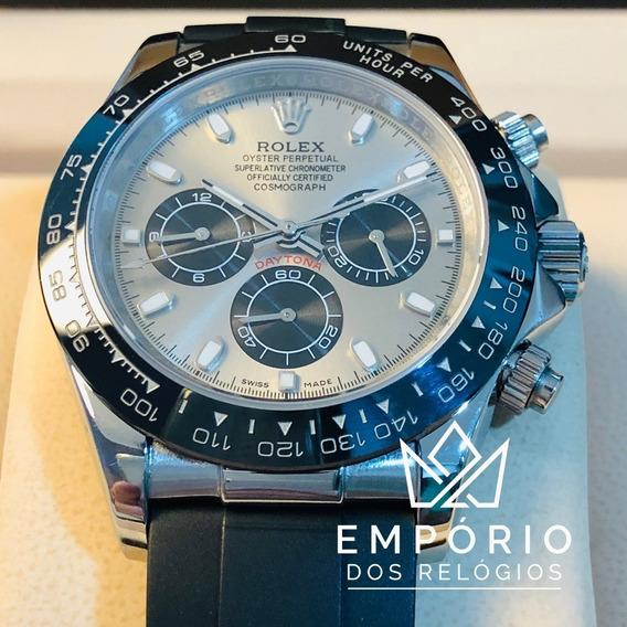 Relógio Rolex Daytona Preto E Aço Automático
