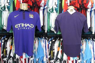 Manchester City 2014 Terceira Camisa Tamanho M.