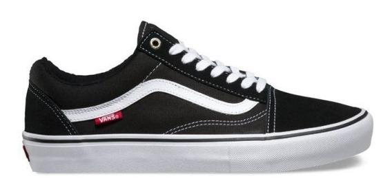 Tênis Vans Old Skool Pro Black White