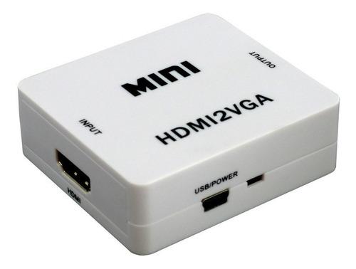 Conversor Convertidor Adaptador Hdmi A Vga Audio Cable Usb