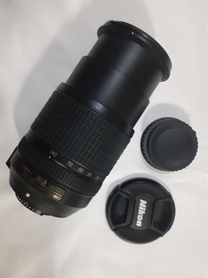 Lente Nikon 18-140mm Nikkor F/3.5-5.6 - Perfeita E Seminova
