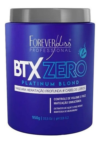 Btx Zero Platinum Blond Forever Liss Botox Orgânico 950g