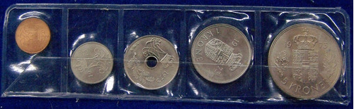 Dinamarca 5, 10, 25 Ore Y 1, 5 Kronor 1973 * Mint *