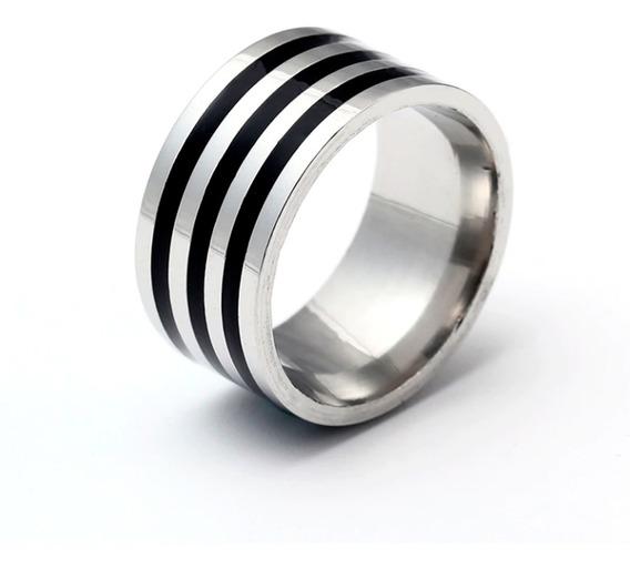 Anel Masculino De Titânio 10mm De Alta Qualidade