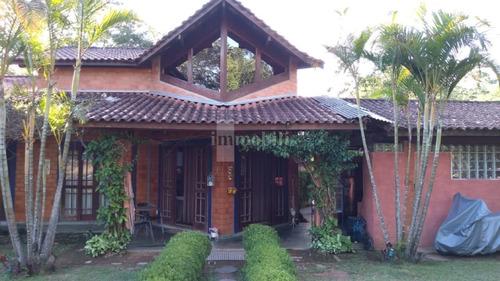 Imagem 1 de 15 de Casa Térrea Rústica Em Condomínio  No Embu Das Artes ( Estuda Permuta De Menor Valor) - Gv18379