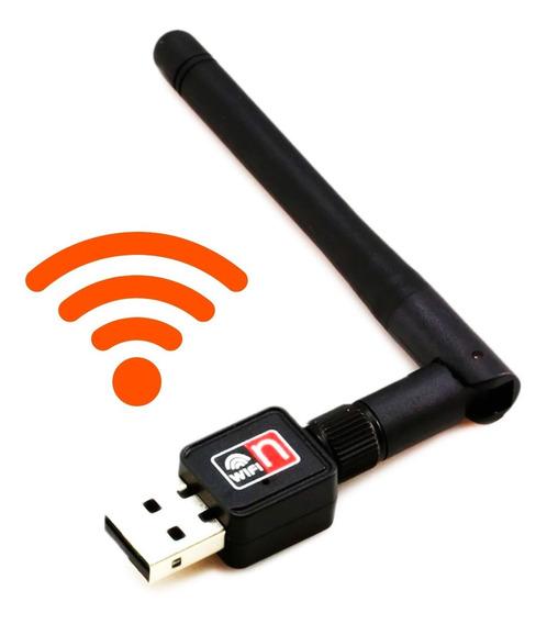 Adaptador Usb 2.0 Wifi 802.11n Con Antena Wireless 300mbps
