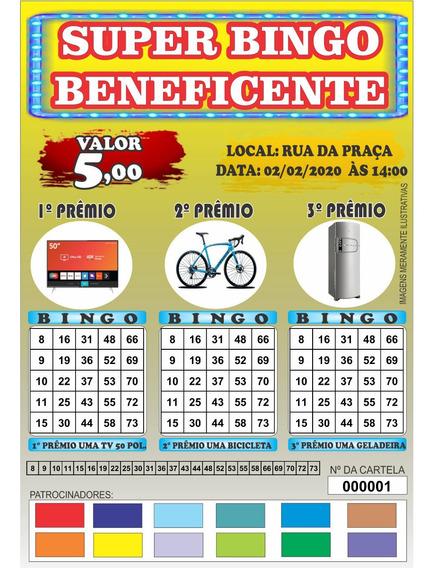 Cartela De Bingo 1 Mil Cartelas Frete Gratis Em Pdf